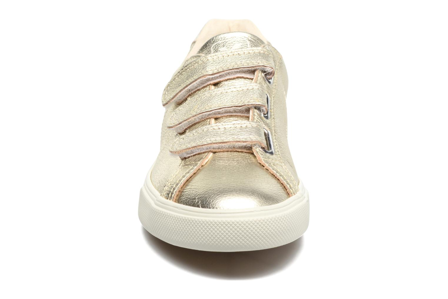 Trainers Veja 3 Lock Bronze and Gold model view