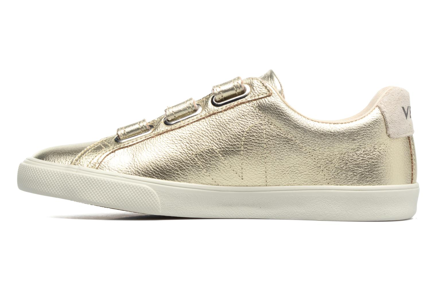 Trainers Veja 3 Lock Bronze and Gold front view