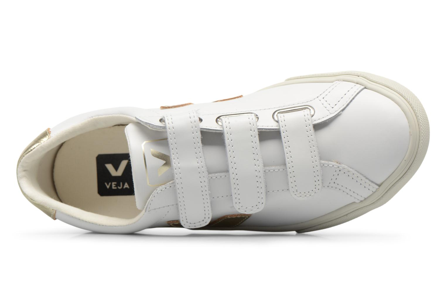 Trainers Veja 3 Lock Bronze and Gold view from the left