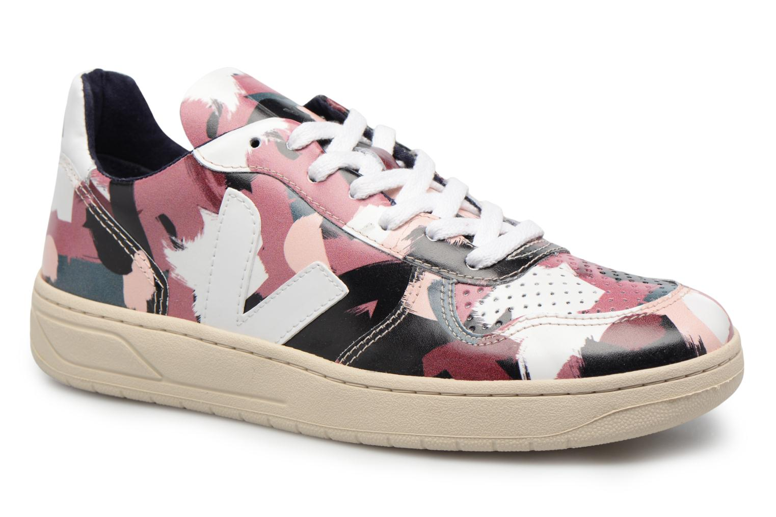 Trainers Veja V-10 W White detailed view/ Pair view