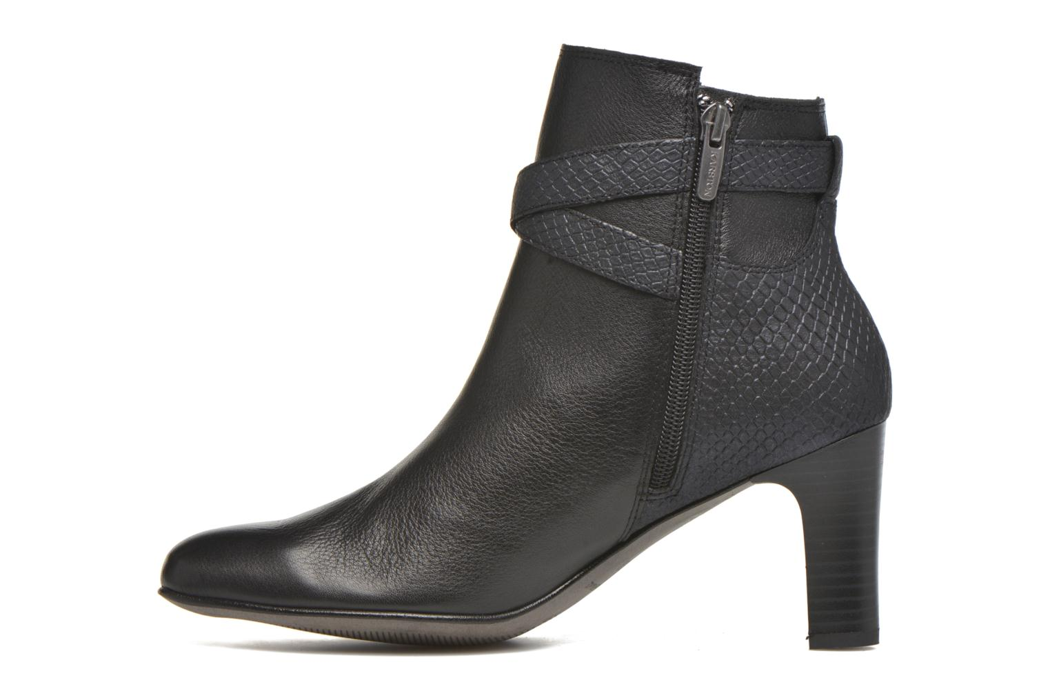 Ankle boots Karston IFOPO #Vo Mil.NOIR/Ch Max ~Doubl & 1ere CUIR Black front view