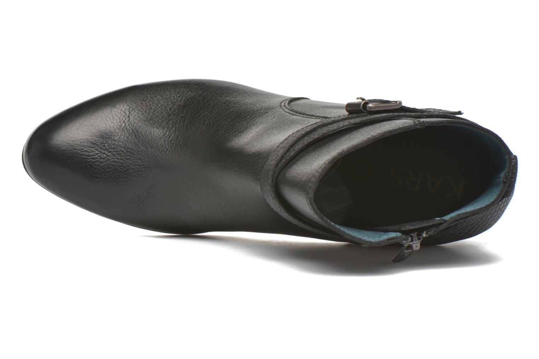 Boots en enkellaarsjes Karston IFOPO #Vo Mil.NOIR/Ch Max ~Doubl & 1ere CUIR Zwart links