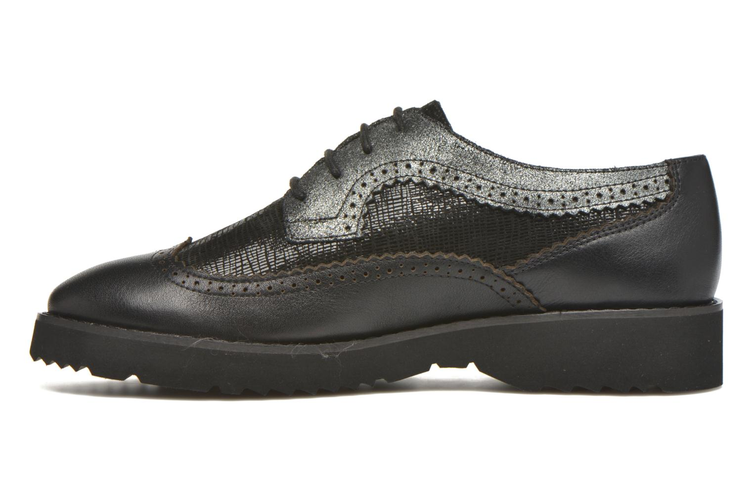 Lace-up shoes Karston OLAGO *Mult Vo Milled NOIR ~Doubl & 1ere CUIR Black front view