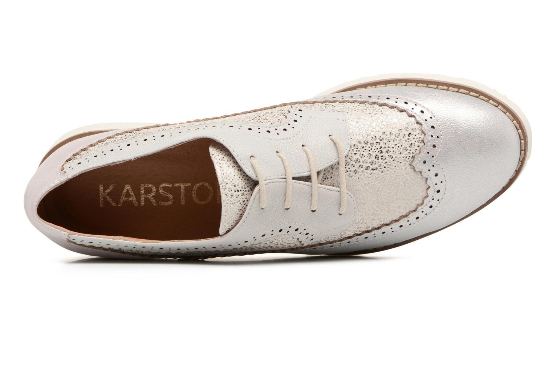 Schnürschuhe Karston Olago silber ansicht von links