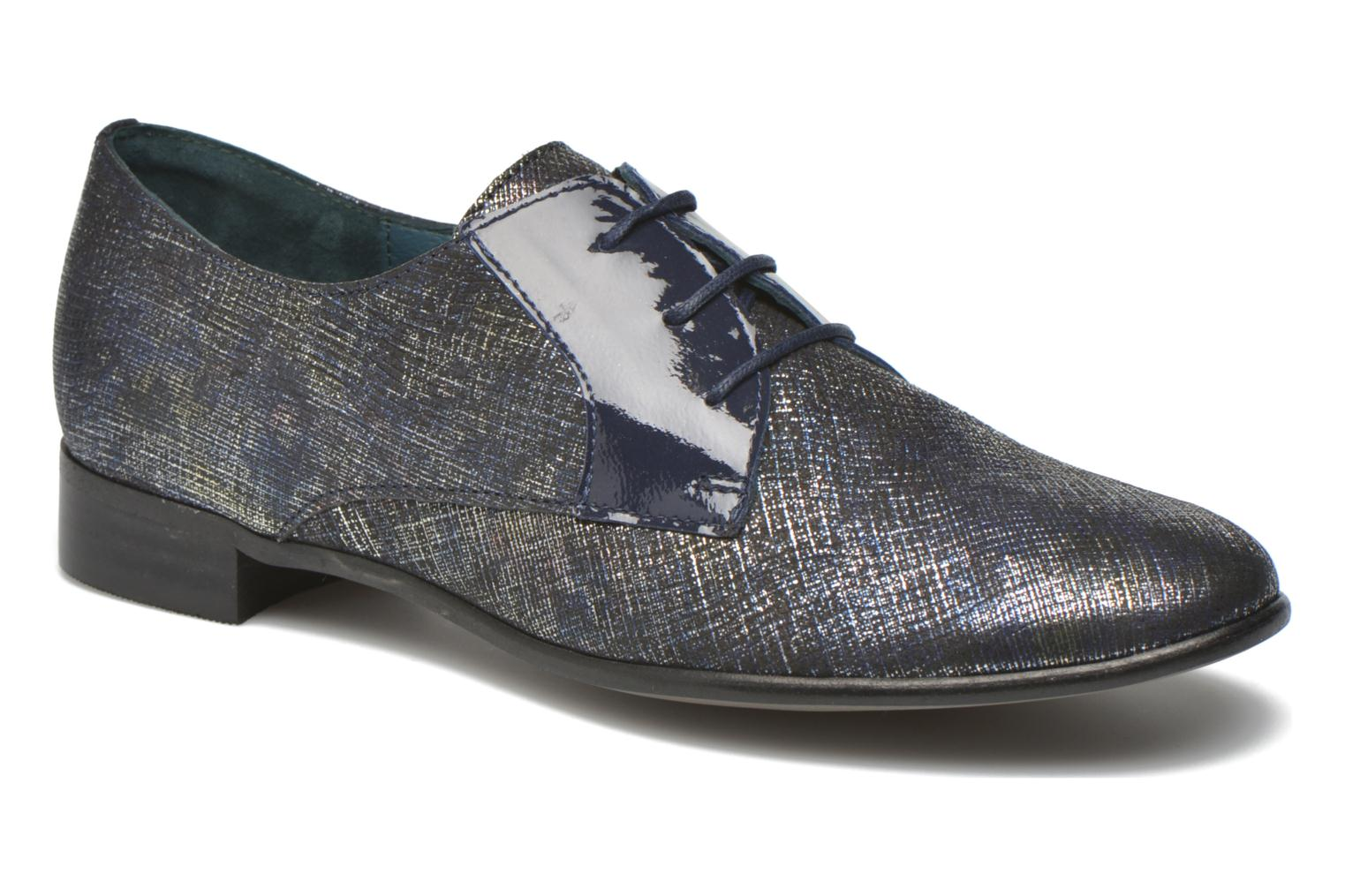 Lace-up shoes Karston Jocra Blue detailed view/ Pair view