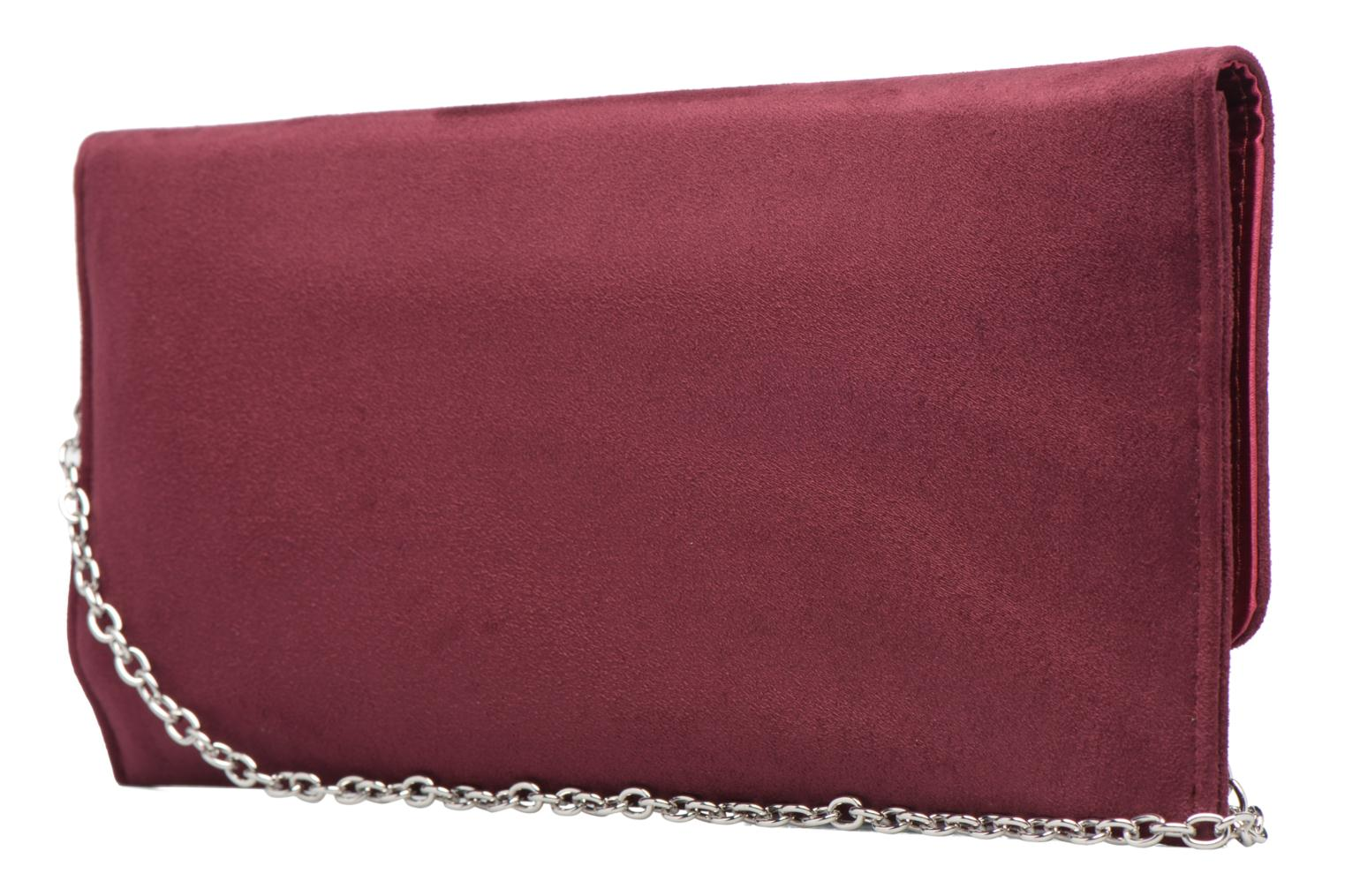 Handbags Menbur Pochette suédée S Red view from the right