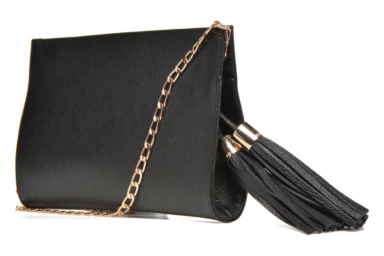 Mini Bags Menbur Pochette grainée pompon schwarz ansicht von rechts