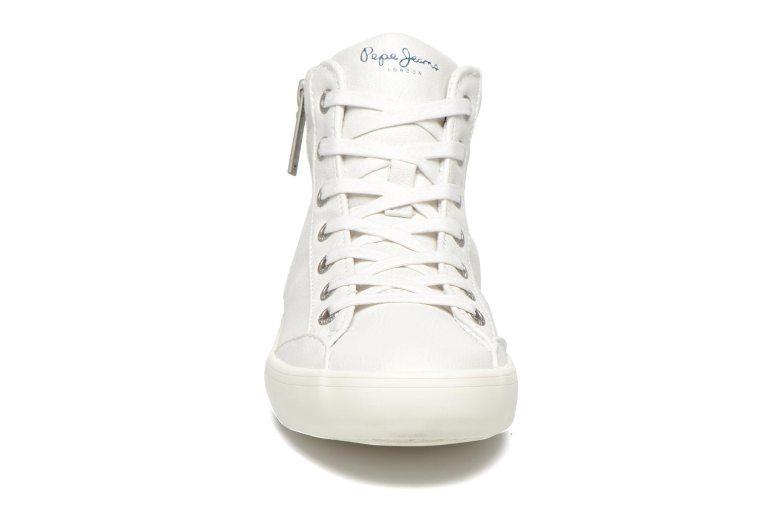 Sneakers Pepe jeans Clinton Break Bianco modello indossato