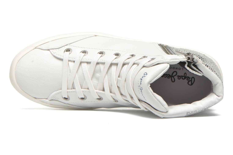 Sneakers Pepe jeans Clinton Break Bianco immagine sinistra