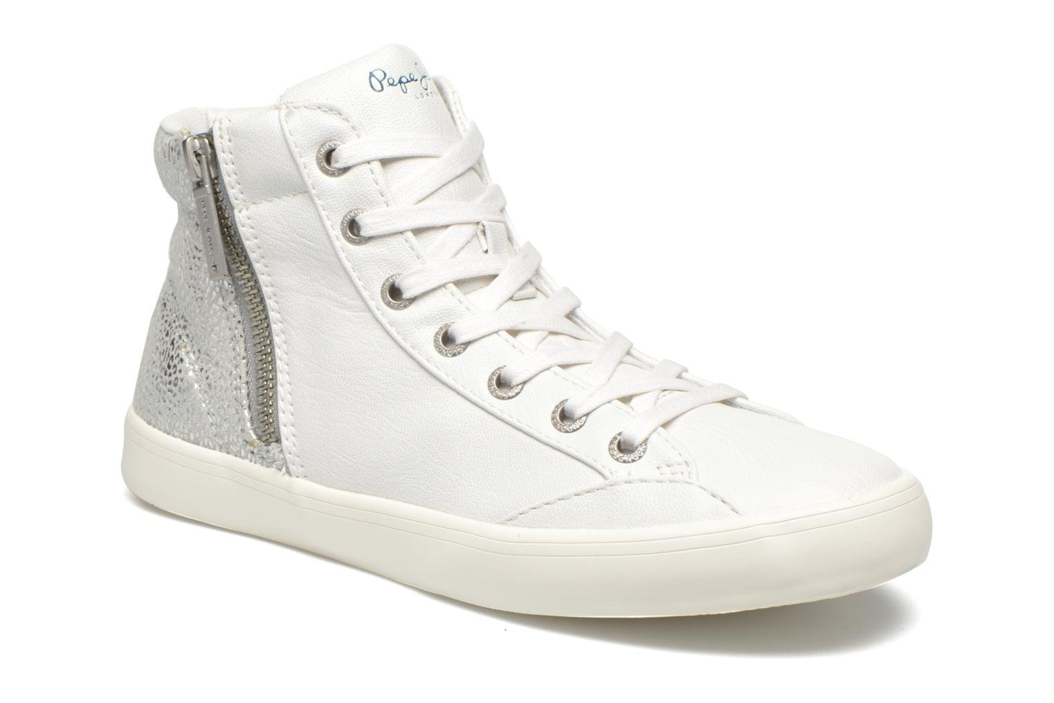 Baskets Pepe jeans Clinton Break Blanc vue détail/paire