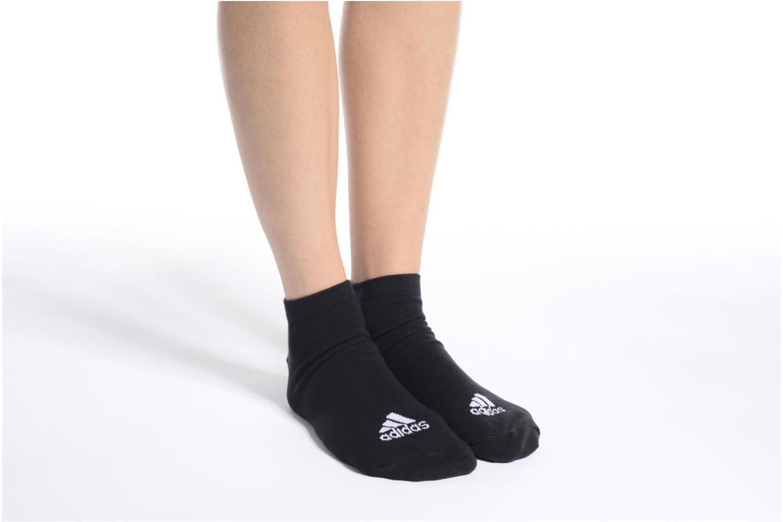Socks & tights Adidas Performance PER LA CREW T3P Black view from above