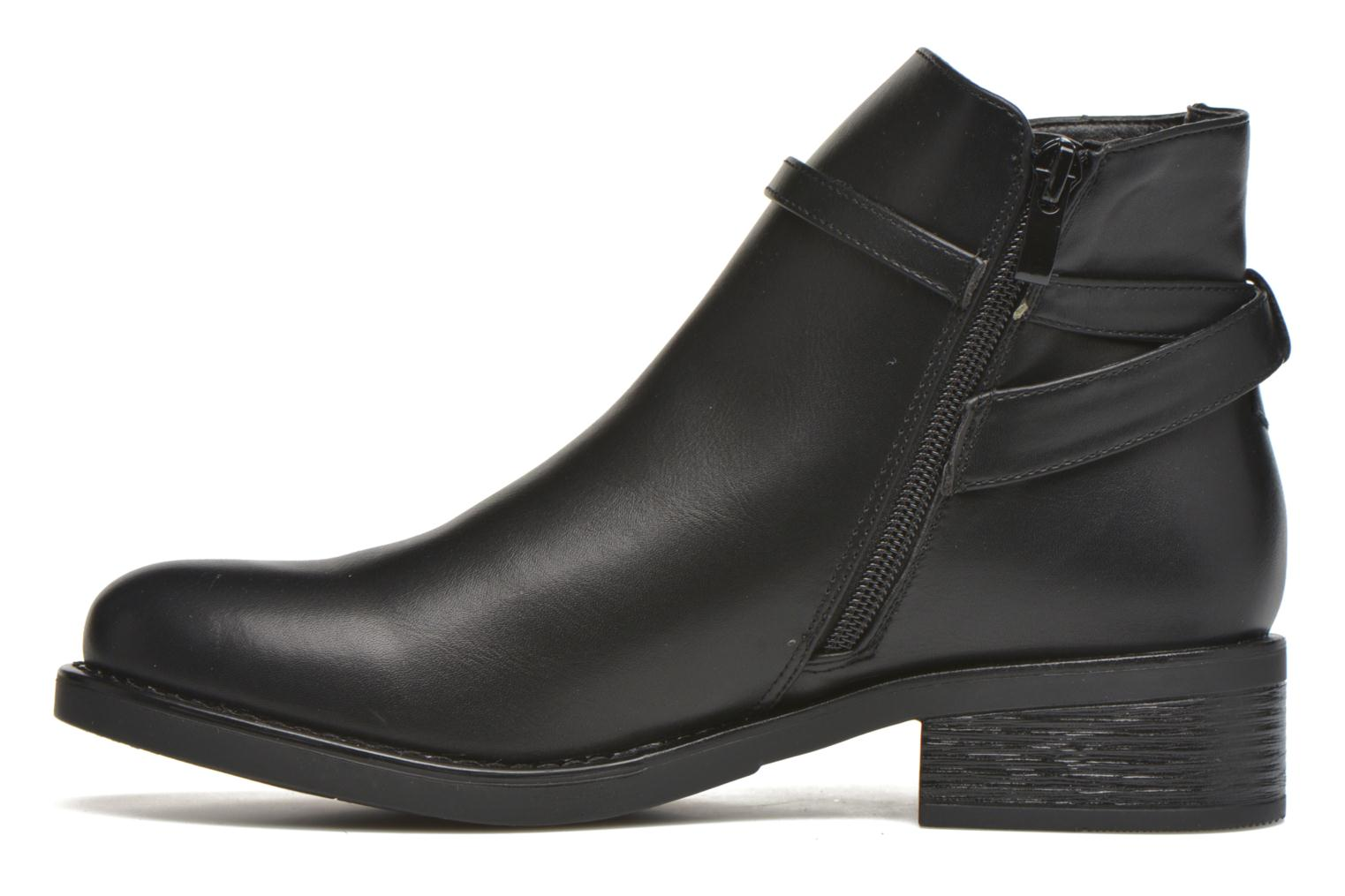 Ankle boots Pieces Daniella Black front view