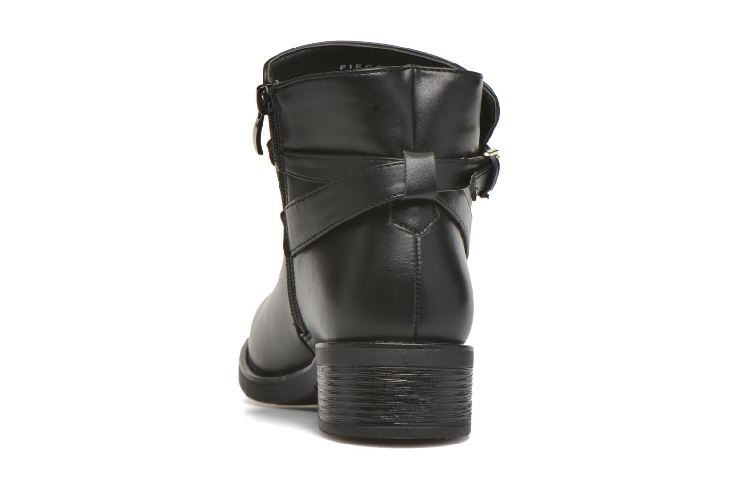 Ankle boots Pieces Daniella Black view from the right
