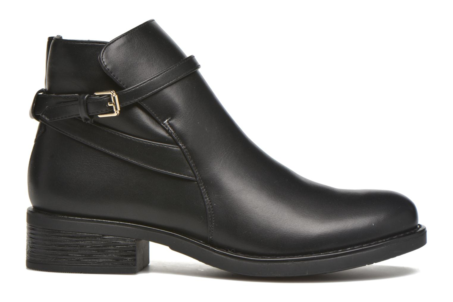 Ankle boots Pieces Daniella Black back view