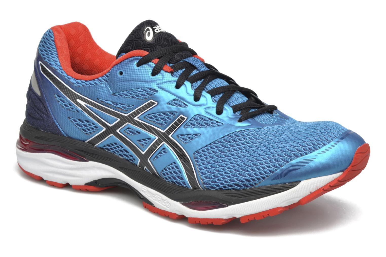 Sport shoes Asics Gel-Cumulus 18 Blue detailed view/ Pair view