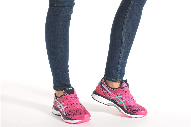 Chaussures de sport Asics Gel-Cumulus 18 W Rose vue bas / vue portée sac