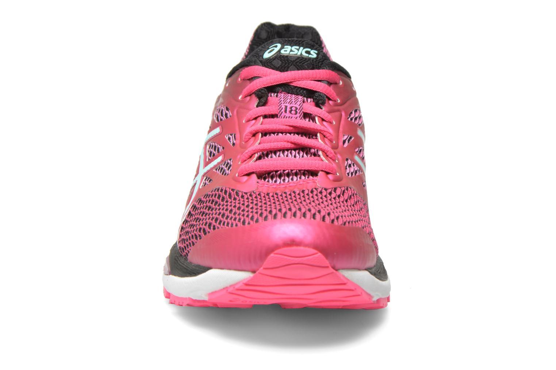 Chaussures de sport Asics Gel-Cumulus 18 W Rose vue portées chaussures