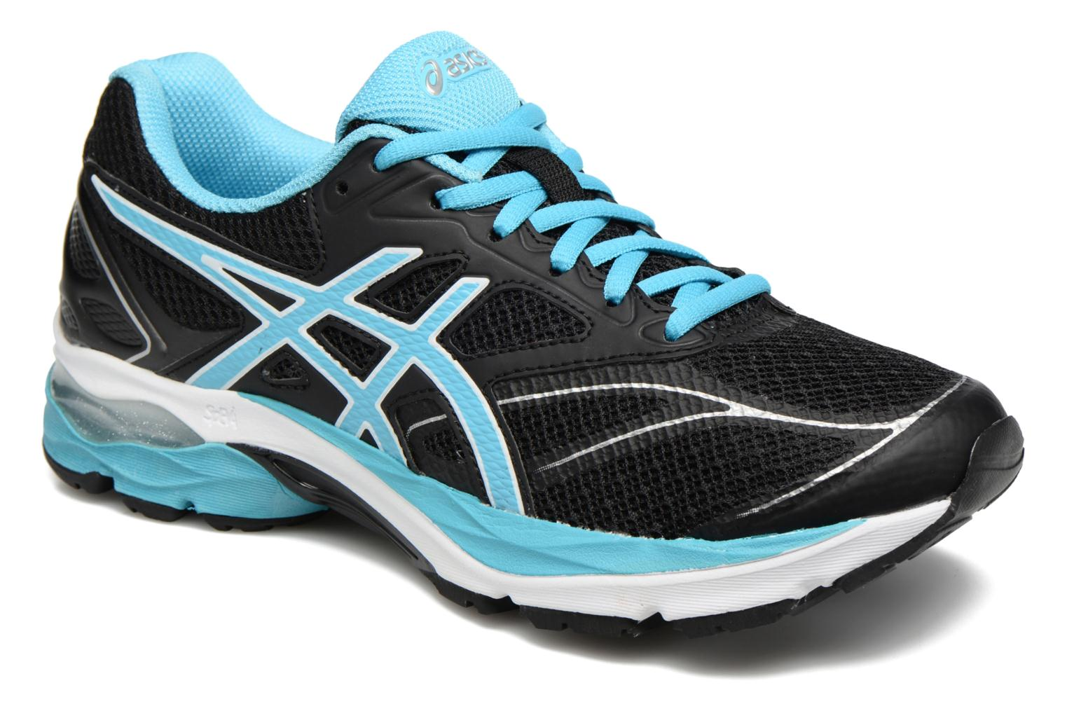Sport shoes Asics Gel-Pulse 8 W Black detailed view/ Pair view