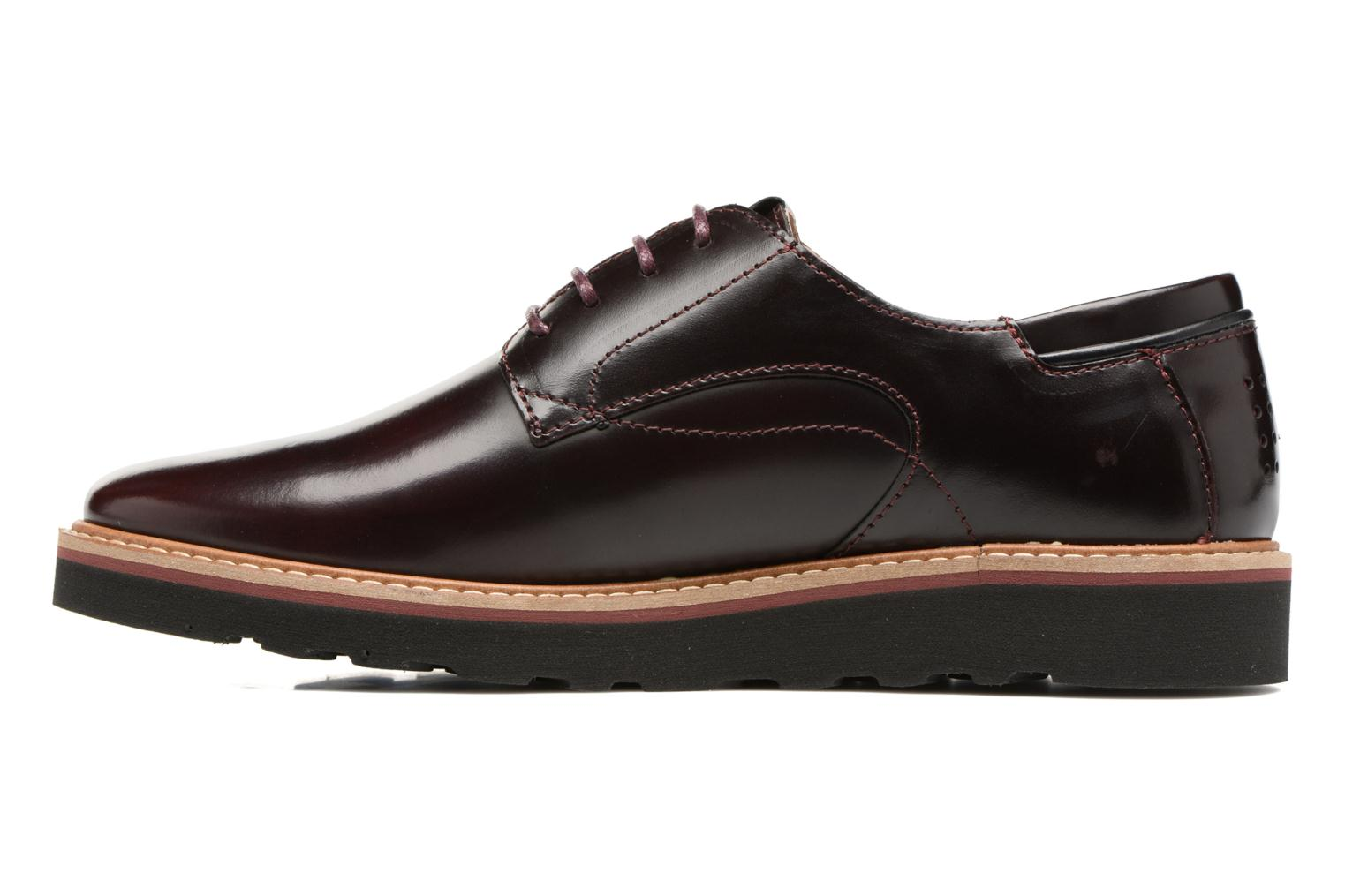 Lace-up shoes TBS Typhany Burgundy front view
