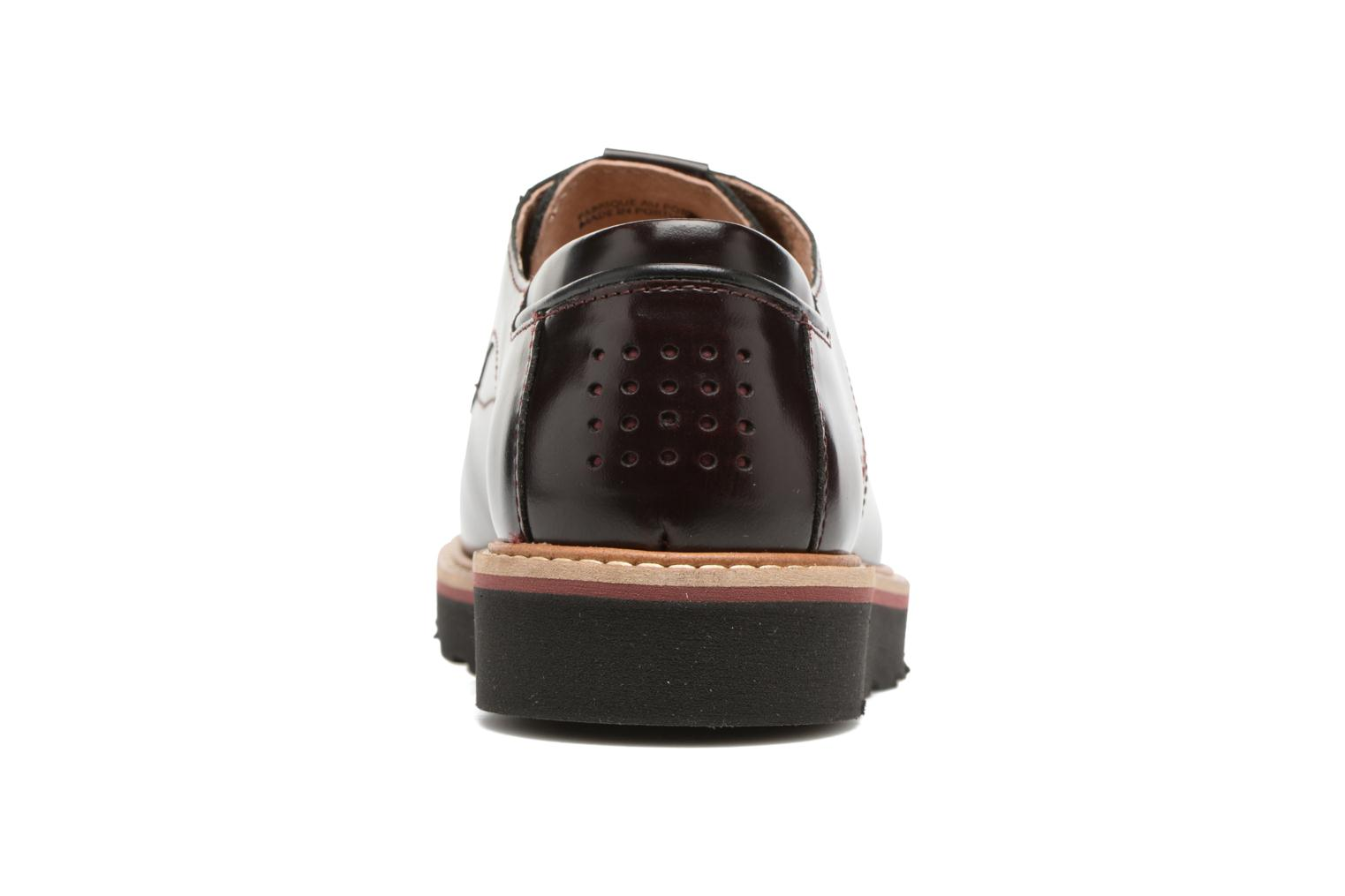 Lace-up shoes TBS Typhany Burgundy view from the right