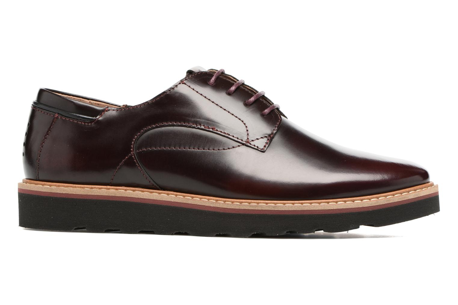 Lace-up shoes TBS Typhany Burgundy back view
