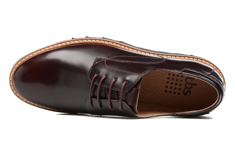 Zapatos con cordones TBS Typhany Vino vista lateral izquierda