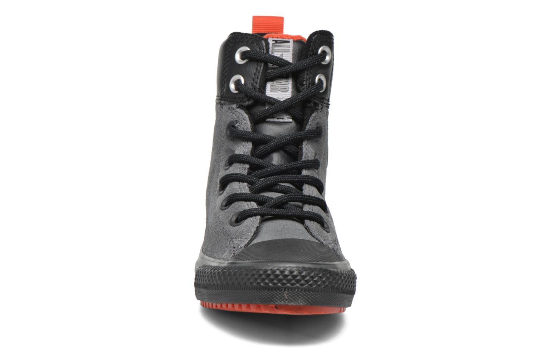 Sneaker Converse Chuck Taylor All Star Asphalt Boot Hi grau schuhe getragen