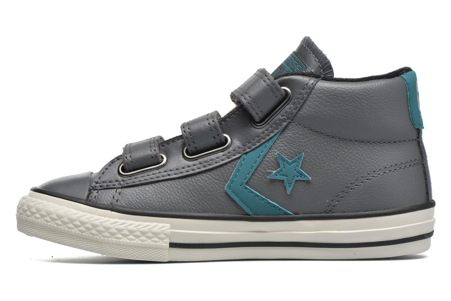 Sneakers Converse Star Player 3V Mid Grijs voorkant