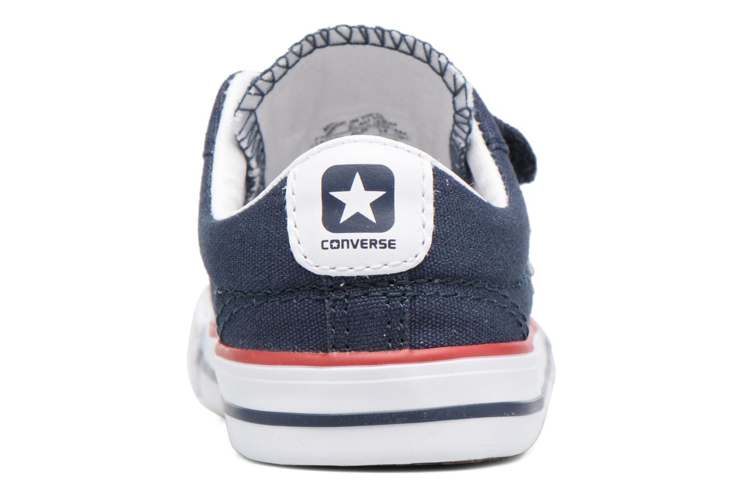 Deportivas Converse Star Player 2V Ox Azul vista lateral derecha