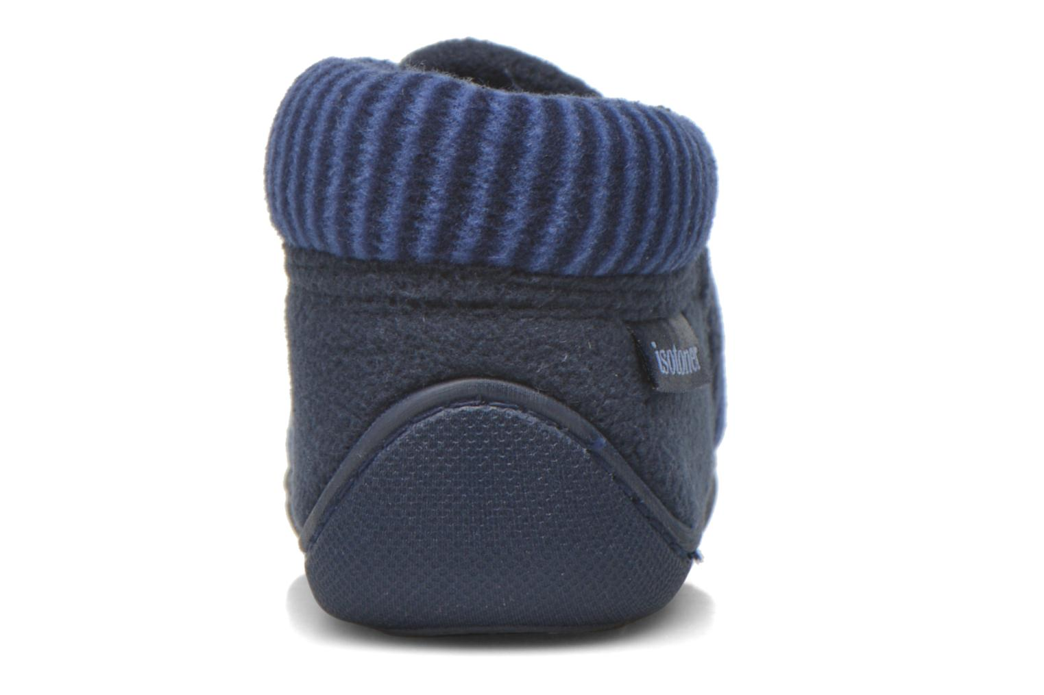 Slippers Isotoner Bottillon Zip polaire Blue view from the right