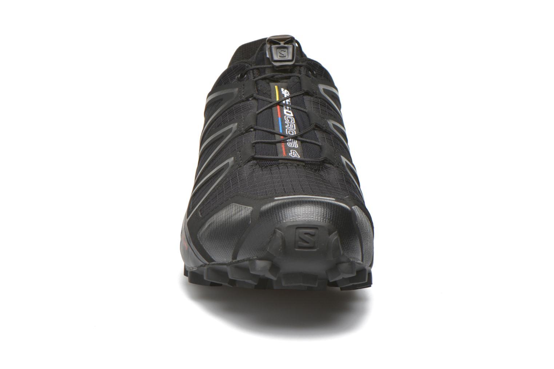 Scarpe sportive Salomon Speedcross 4 Nero modello indossato
