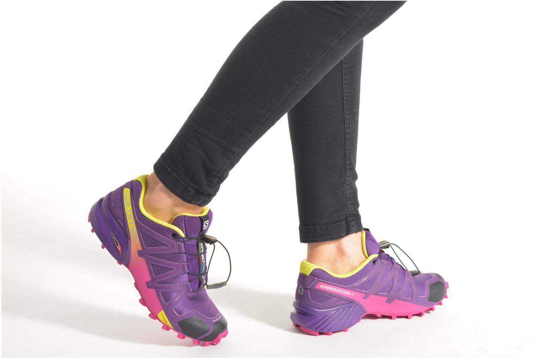 Chaussures de sport Salomon Speedcross 4 W Violet vue bas / vue portée sac