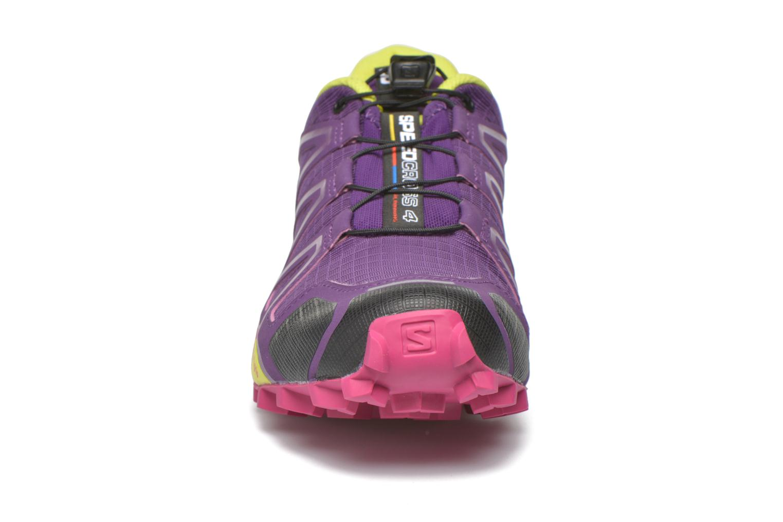 Chaussures de sport Salomon Speedcross 4 W Violet vue portées chaussures