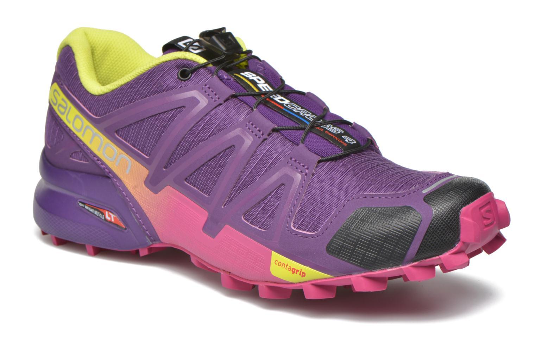 Chaussures de sport Salomon Speedcross 4 W Violet vue détail/paire