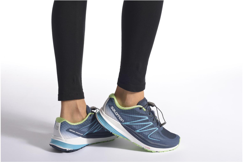 Chaussures de sport Salomon Sense Propulse W Bleu vue bas / vue portée sac