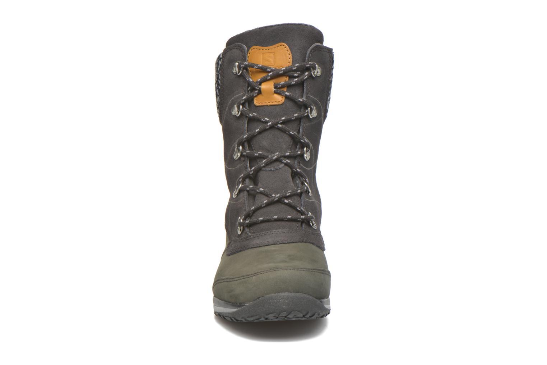Chaussures de sport Salomon Hime Mid LTR CSWP Gris vue portées chaussures