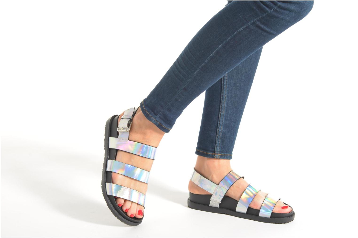Sandals Blink Kural Silver view from underneath / model view