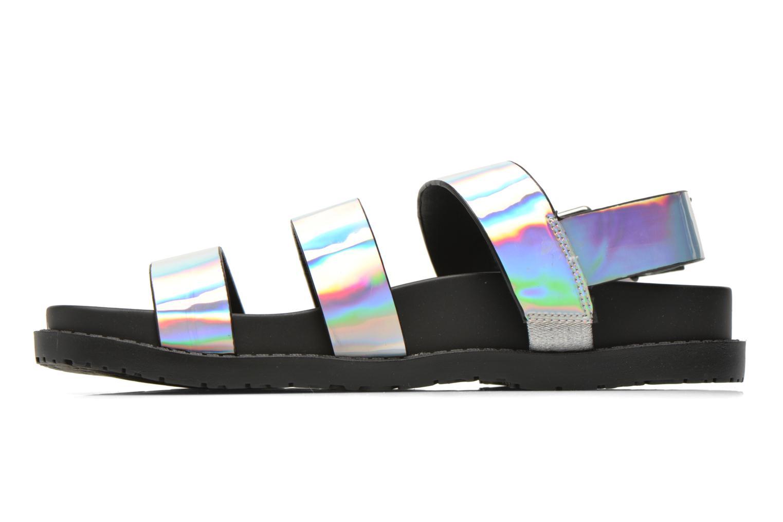 Sandales et nu-pieds Blink Kural Argent vue face