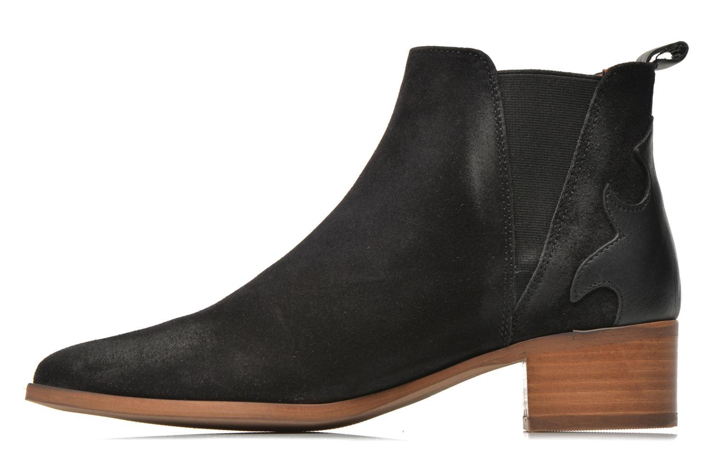 Bottines et boots Bronx Vik Noir vue face