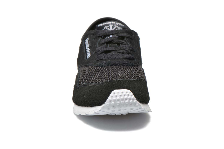 Baskets Reebok Cl nylon slim mesh Noir vue portées chaussures