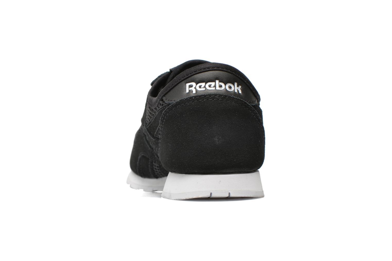 Baskets Reebok Cl nylon slim mesh Noir vue droite