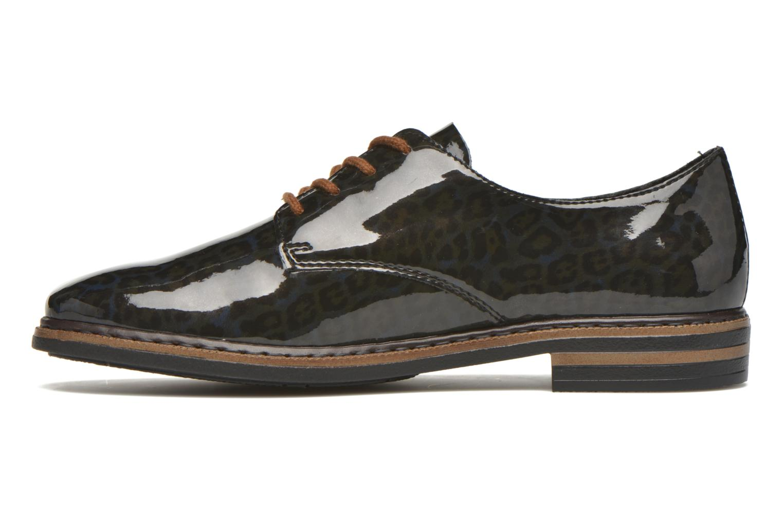 Lace-up shoes Rieker Mud 50614 Blue front view