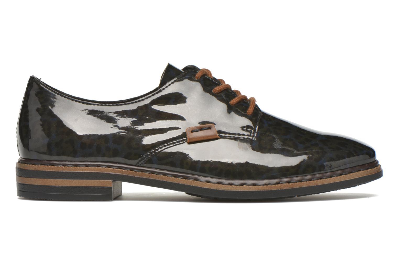 Lace-up shoes Rieker Mud 50614 Blue back view
