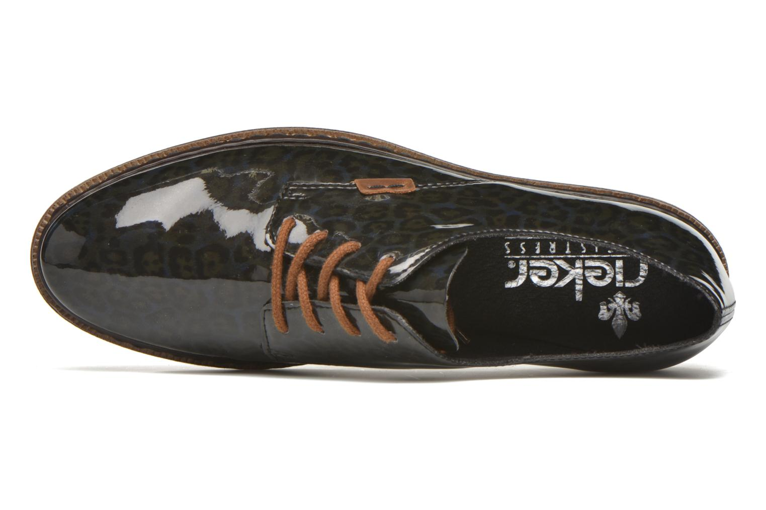 Lace-up shoes Rieker Mud 50614 Blue view from the left