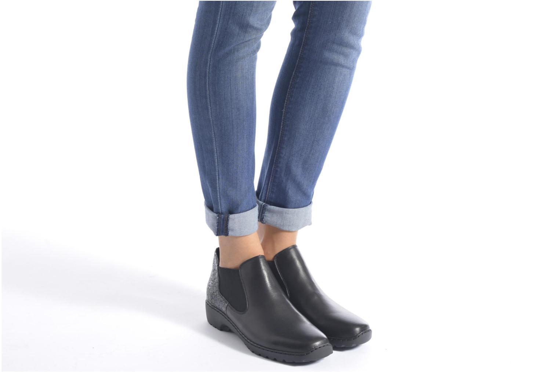 Bottines et boots Rieker Laure L6090 Noir vue bas / vue portée sac