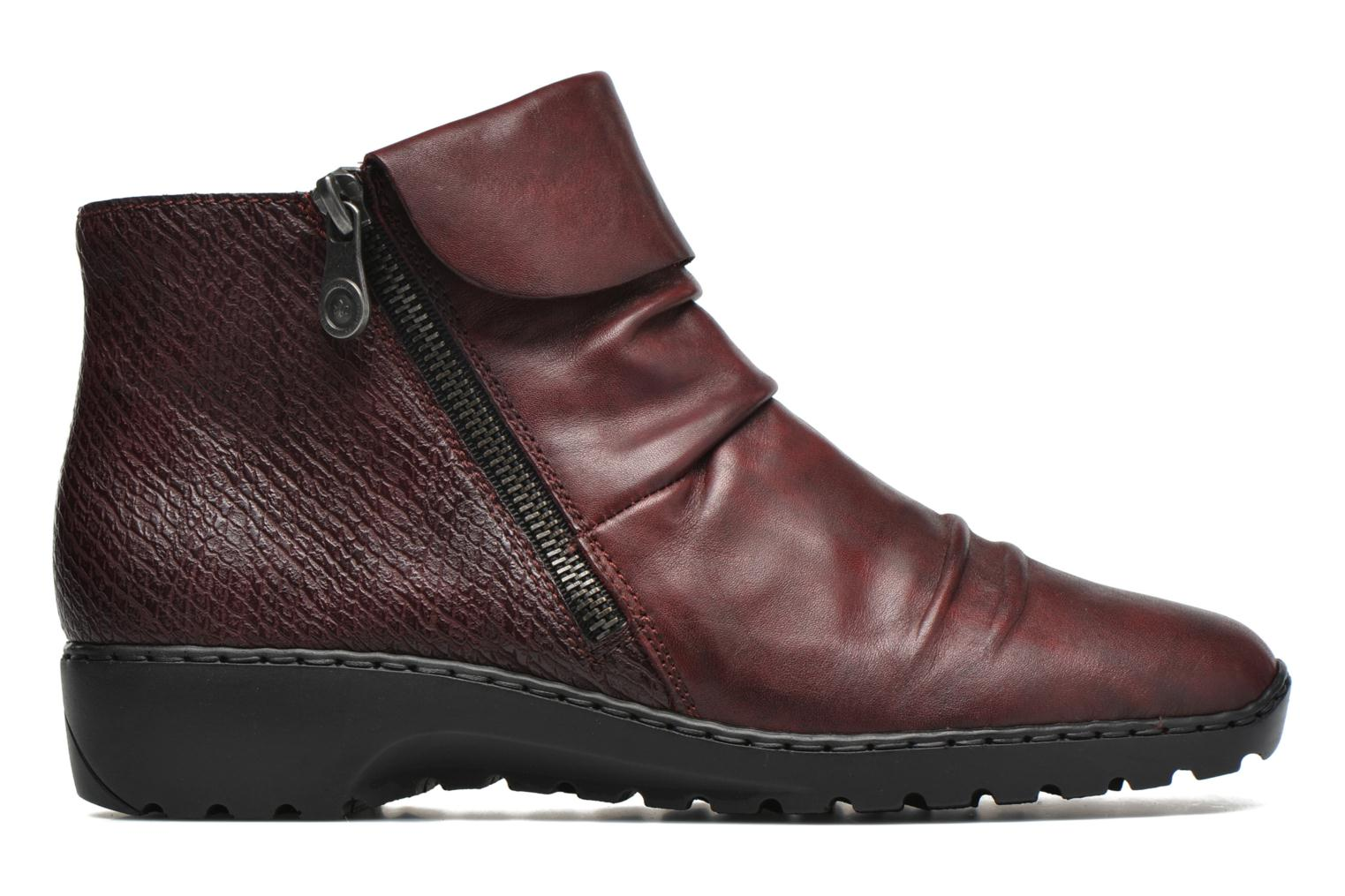 Ankle boots Rieker Mag Z6083 Red back view
