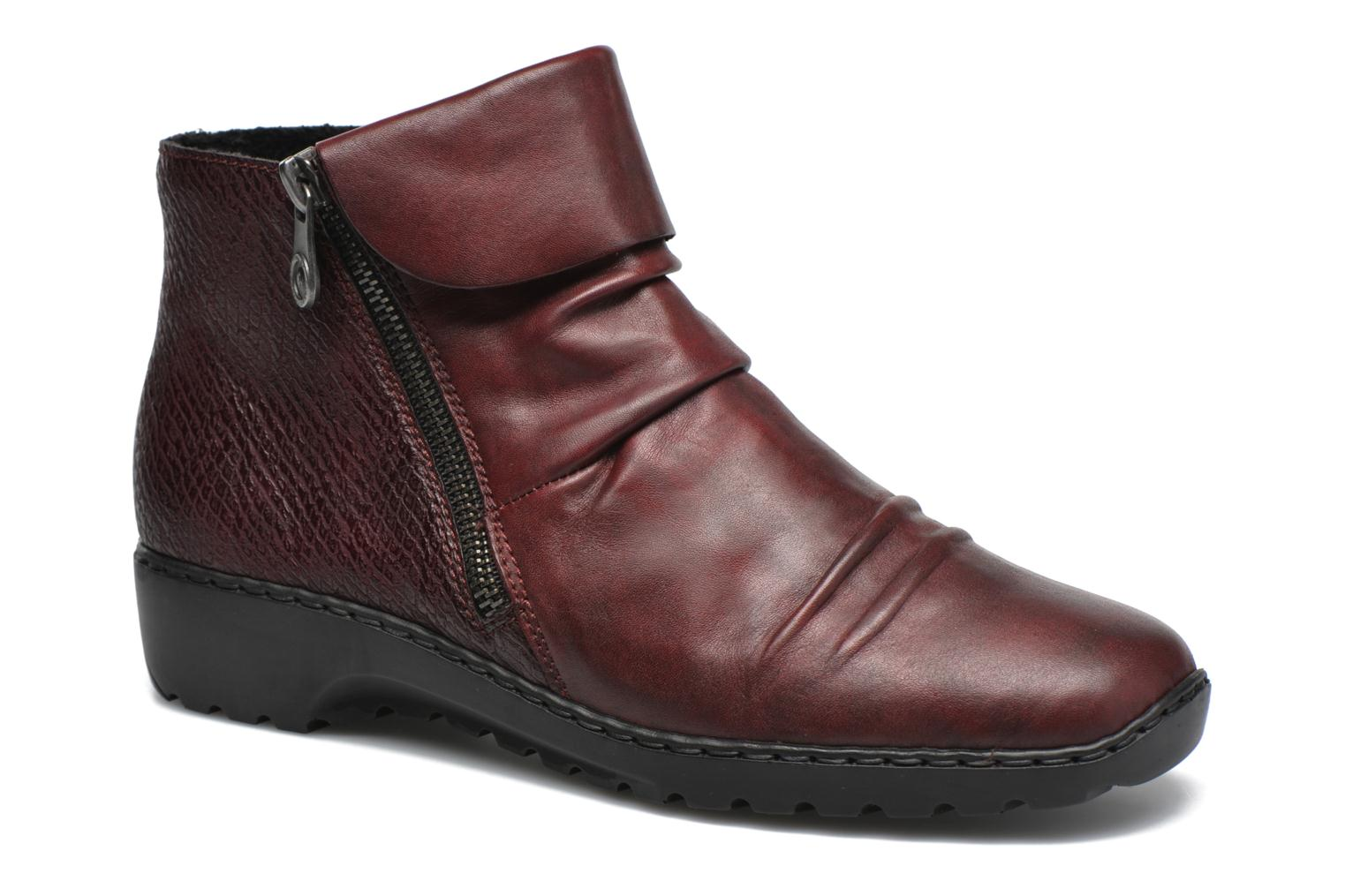 Ankle boots Rieker Mag Z6083 Red detailed view/ Pair view