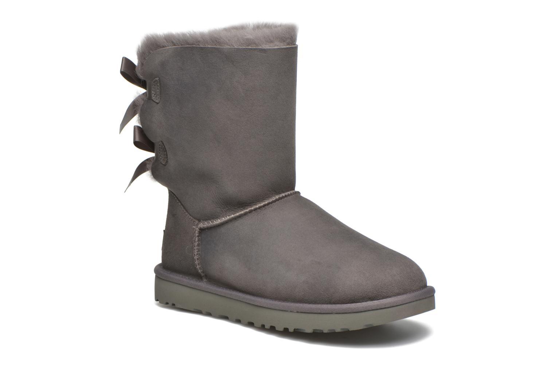 Bottines et boots UGG Bailey Bow II Gris vue détail/paire