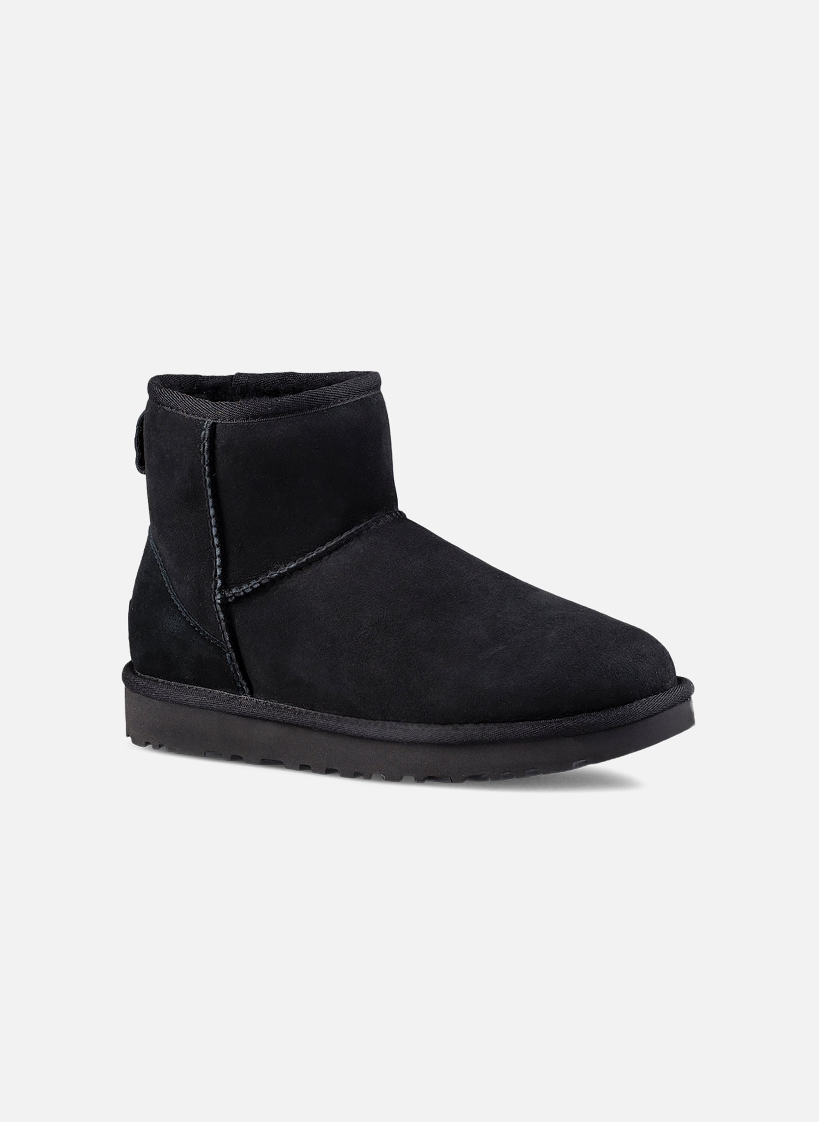 Ankle boots UGG W Classic Mini II Black detailed view/ Pair view
