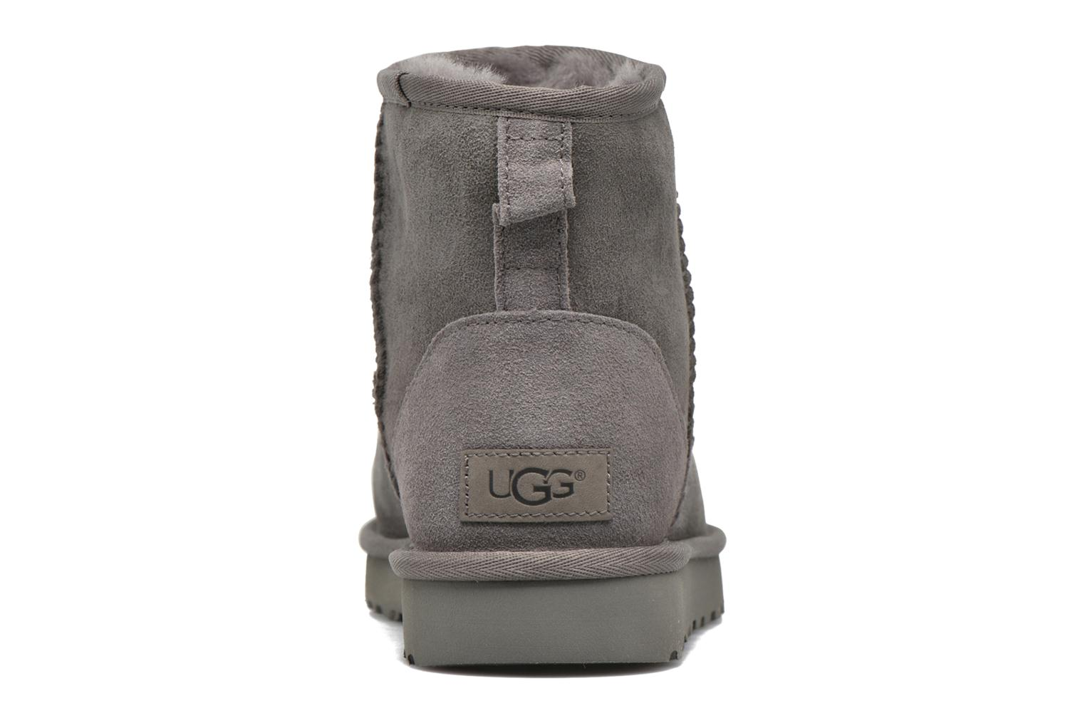 Ankle boots UGG W Classic Mini II Grey view from the right